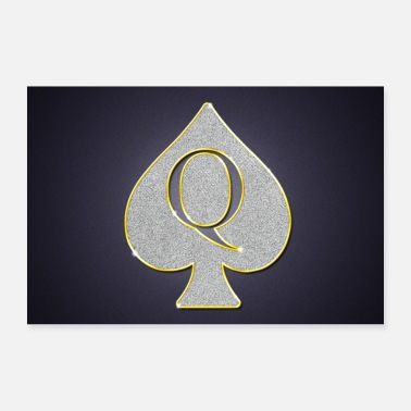 Picche Poster di gingillo Bling Bling di Queen of Spades - Poster 60x40 cm