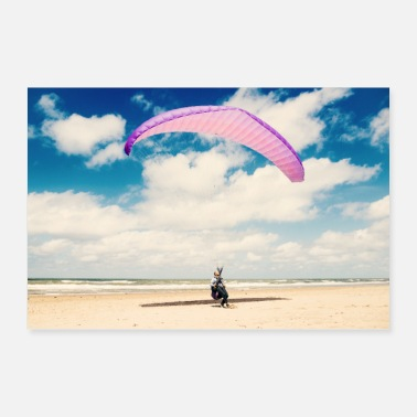 Holland Holland beach sun sea skydiving - Poster 60x40 cm