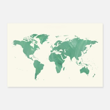Map map of the world - Poster 24 x 16 (60x40 cm)