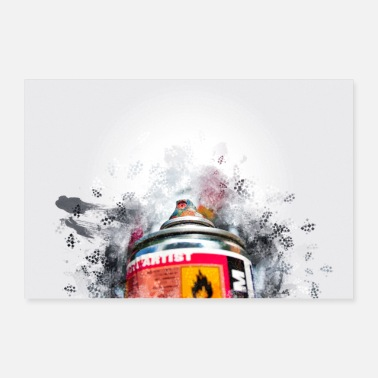 Hip Retro Vintage Grafitti Spraycan Hip Hop -lounge - Juliste 60x40 cm