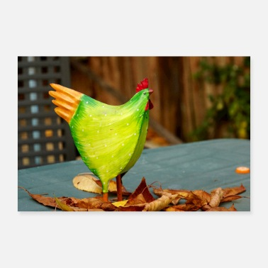 Decoration Autumn chicken decoration - Poster 24 x 16 (60x40 cm)