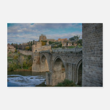 Spain Bridge in Toledo / Spain - Poster 24 x 16 (60x40 cm)
