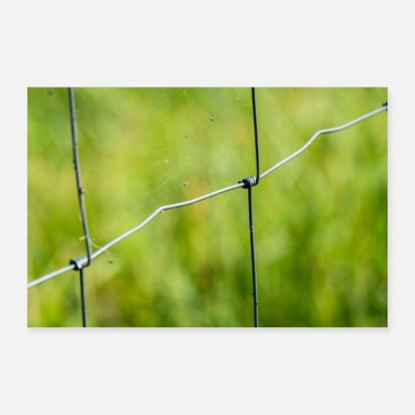 Fencing Wire fence fence border garden fence - gift idea - Poster