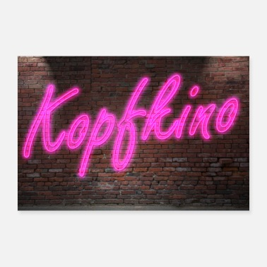 Neon Neon neon sign cinema on wall poster - Poster 24 x 16 (60x40 cm)