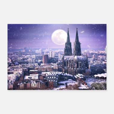 Winter Köln im Winter - Poster 60x40 cm