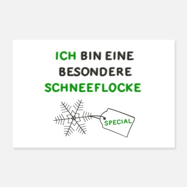 Snowflake I am a special snowflake poster - Poster 24 x 16 (60x40 cm)