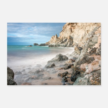Cornwall Paysage de la formation rocheuse Cornwall South England - Poster
