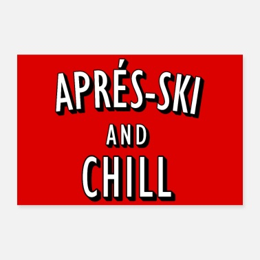 Skilift Après-Ski and Chill poster - Poster