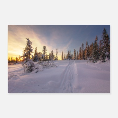 Winterade Snowy Winter Landscape Poster - Poster