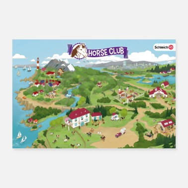 House Schleich Horse Club Map - Poster
