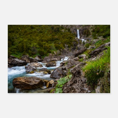 Pyrenees waterfall - Poster