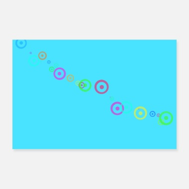 Minimalistic abstract art minimalist pattern - Poster