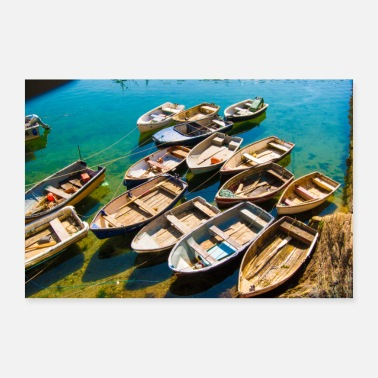 Harbour Rowing Boats - Poster