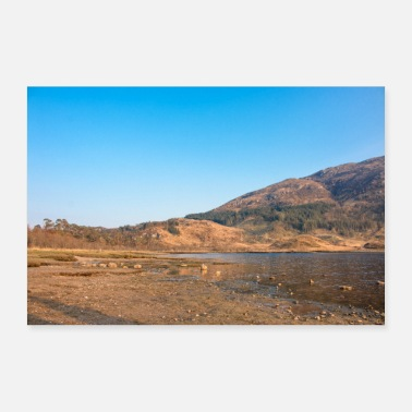 Great Highland Loch Shiel Highlands Scotland near Glenfinnan Monu - Poster