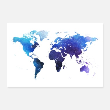 World map of the world - Poster