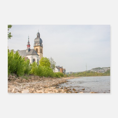 Catholic Parish Church of St. Peter Wallersheim Koblenz Poster - Poster