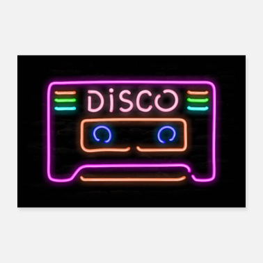 Tubo Discoteca Cassette Man Cave Neon Pipe Sign - Poster