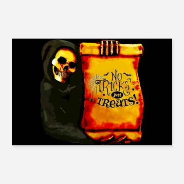 Grim Reaper Halloween Grim Reaper No Tricks Just Treats - Poster