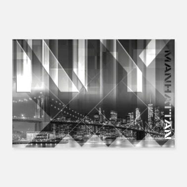 New Modern Art BROOKLYN BRIDGE & SKYLINE - Poster