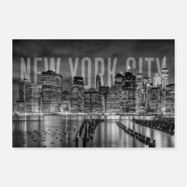 New NEW YORK CITY Skyline | Monochrome - Poster