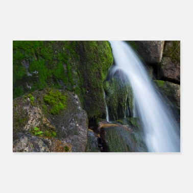 Black Forest waterfall - Poster