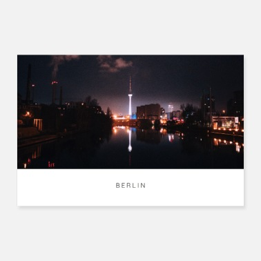 Television Berlin at night - skyline with television tower - Poster