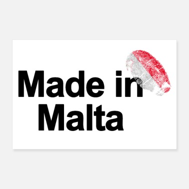 Malta Fingerprint Made in Malta Poster - Poster