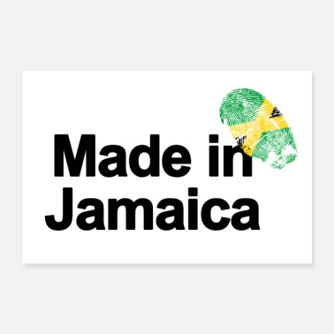 Jamaica Fingerprint Made in Jamaica poster - Poster