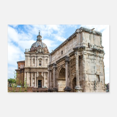 Martina The Arch of Septimius Severus Rome Italy - Poster