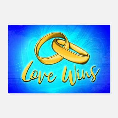 Love wins. Wedding gift poster - Poster
