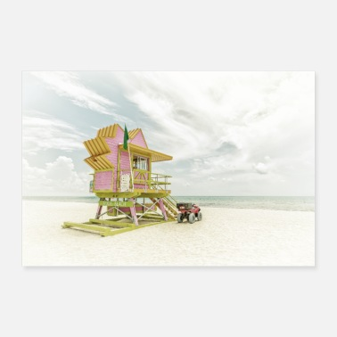 MIAMI BEACH Florida Flair | Wijnoogst - Poster