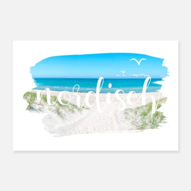 Vacation Nordic beach coast vacation ready for vacation - Poster