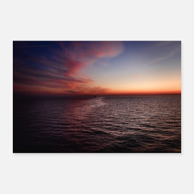 High Seas Sunset on the high seas - Poster