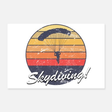 Para Sunset Skydiving Parachuting logo proud Survivor - Poster