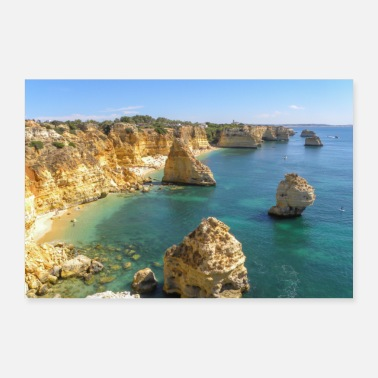 Navy Arco Natural at Navy Beach Algarve Portugal - Poster