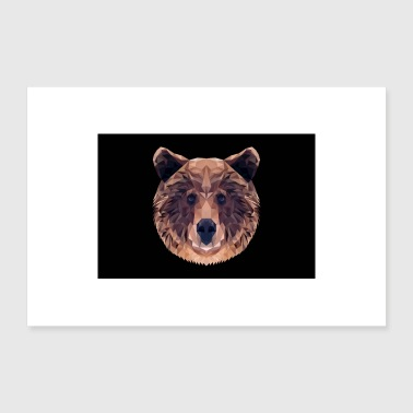 Wilderness BROWN BEAR ANIMAL LOVE GIFT NATURE ANIMAL GUARD FOREST - Poster 24 x 16 (60x40 cm)