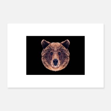 Ours Brun OURS BRUN ANIMAL AMOUR CADEAU NATURE ANIMAL GARDE FORET - Poster 60 x 40 cm