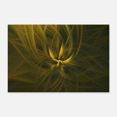 Boeddhisme Abstract Abstract Art Pattern Blossom - Poster