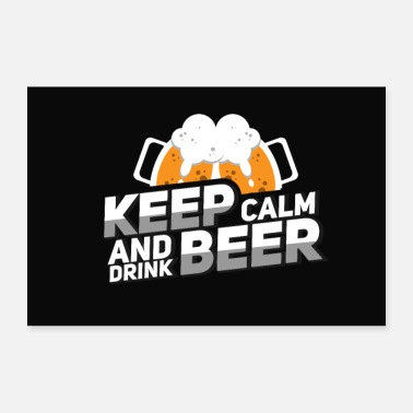 Keep Calm Keep calm and drink beer - Poster