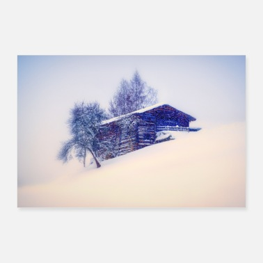 Snowscape House snow winter - Poster