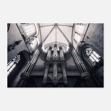 Romanesque St. Paul's Cathedral in Munster - church organ - Poster