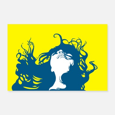 Flower Power De 70's Hair in the Wind Poster Poster - Poster