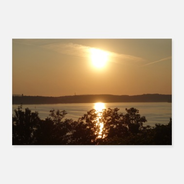 Sunset over Lake Constance - Poster