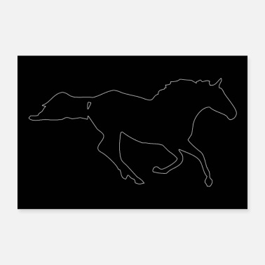 Horse silhouette - Poster