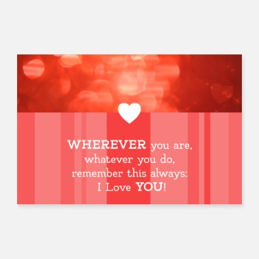 Cupido Love saying with heart - wherever you are - Poster