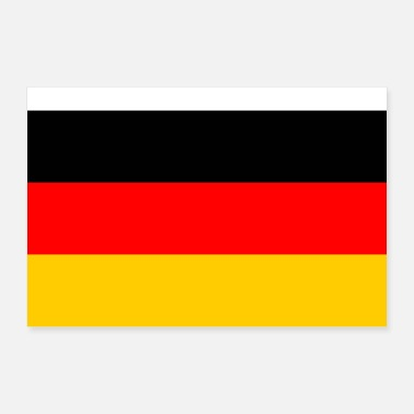 European Champion Germany flag - Poster 24 x 16 (60x40 cm)