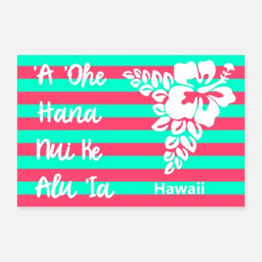 Clip Art Proverbio Hawaii - Poster 60x40 cm
