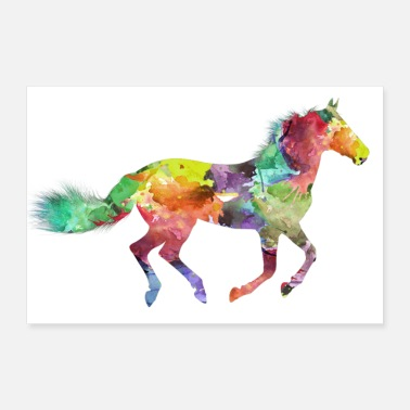Galop Cheval affiche - Poster 60 x 40 cm