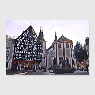 Chiesa Old Town Hall Fulda - Poster 60x40 cm