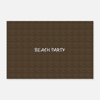 Party Beach party - Poster 60x40 cm